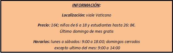 info museo vaticano