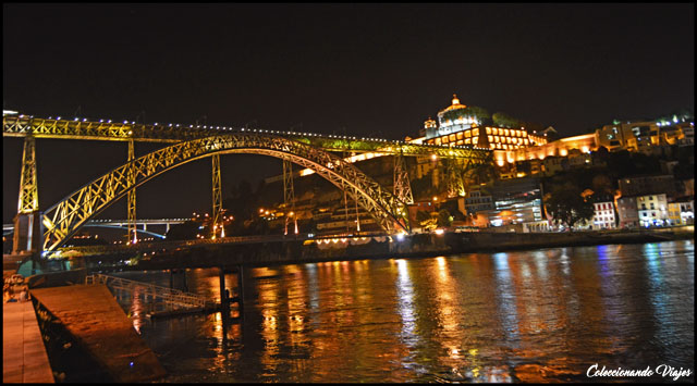 puente don luis I noche