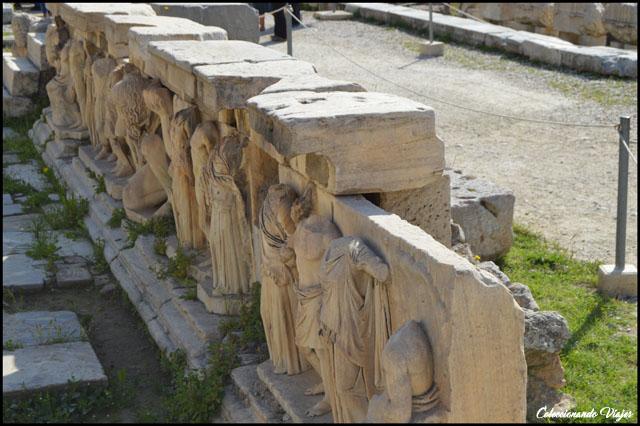 Teatro de Dionisio balustrada