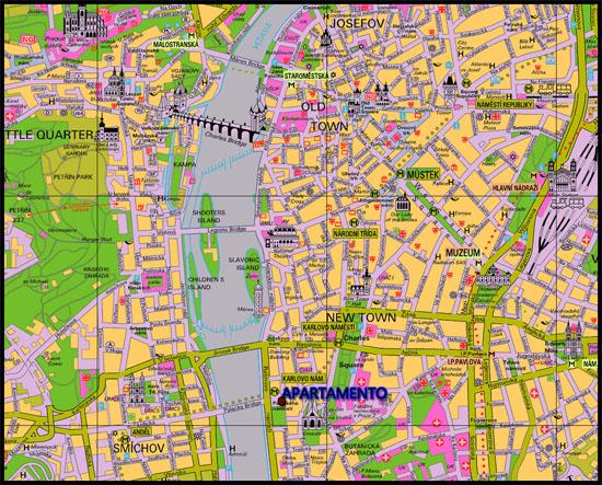mapa alojamiento